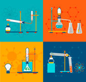 Icone di chimica impostate Royalty Illustrazione gratis