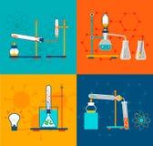 Icone di chimica impostate Fotografia Stock Libera da Diritti