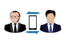 Icone di collegamento della gente Fotografia Stock
