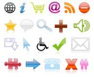 Icone di colore Immagine Stock