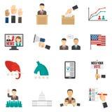 Icone di colore di elezione Fotografie Stock