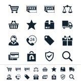 Icone di commercio elettronico Fotografia Stock