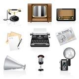 Icone di comunicazione. Fotografia Stock Libera da Diritti