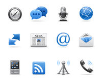 Icone di comunicazione Immagine Stock