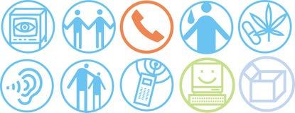 Icone di comunicazione Fotografia Stock Libera da Diritti