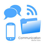 Icone di comunicazione illustrazione di stock