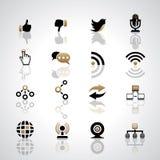 Icone di comunicazione Fotografie Stock Libere da Diritti