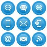 Icone di comunicazione Immagini Stock