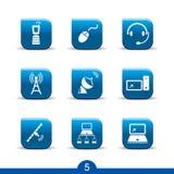 Icone di comunicazione 5? serie regolari Fotografie Stock