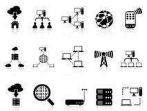 Icone di comunicazione del computer messe Fotografie Stock