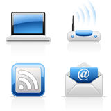 Icone di comunicazione del Internet Fotografia Stock