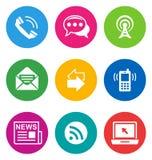 Icone di comunicazione di colore Immagini Stock Libere da Diritti