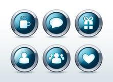 Icone di comunicazione di Web e del sociale impostate   Fotografia Stock Libera da Diritti
