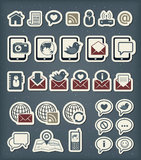 Icone di comunicazione di web Immagini Stock