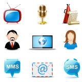 Icone di comunicazione e del Social | Serie di Bella Immagine Stock Libera da Diritti