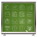 Icone di comunicazione e del telefono mobile Fotografia Stock