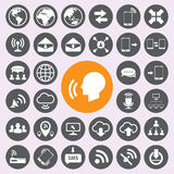 Icone di comunicazione e di Internet messe Vector/EPS10 Immagini Stock Libere da Diritti