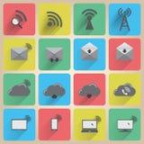 Icone di comunicazione impostate Immagine Stock