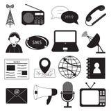 Icone di comunicazione impostate Fotografie Stock