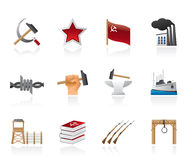 Icone di comunismo, di socialismo e di giro Immagine Stock