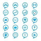 Icone di concetti dell'innovazione di affari messe Immagine Stock