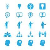 Icone di concetti dell'innovazione di affari messe Fotografie Stock