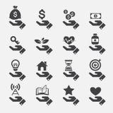Icone di concetto della mano Fotografia Stock Libera da Diritti