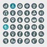 Icone di concetto di affari Immagine Stock Libera da Diritti