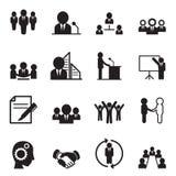 Icone di concetto di idea di affari Immagine Stock