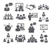 Icone di conferenza Immagini Stock