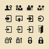 Icone di connessione per il sito Web o il app Fotografia Stock