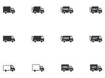 12 icone di consegna Immagini Stock