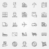 Icone di consegna impostate royalty illustrazione gratis