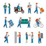 Icone di consegna piane royalty illustrazione gratis
