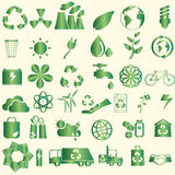 Icone di conservazione del mondo Immagini Stock
