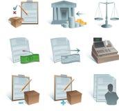 Icone di contabilità Fotografia Stock Libera da Diritti
