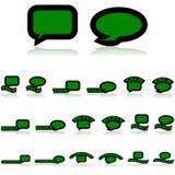 Icone di conversazione illustrazione di stock