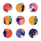 Icone di conversazione messe illustrazione vettoriale