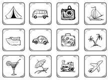 Icone di corsa Fotografia Stock