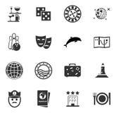 Icone di crociera messe Fotografie Stock Libere da Diritti