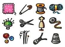 Icone di cucito illustrazione di stock