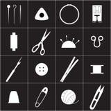 Icone di cucito di industria Fotografie Stock