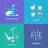 Icone di cure odontoiatriche Immagine Stock Libera da Diritti