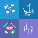 Icone di cure odontoiatriche Fotografia Stock Libera da Diritti
