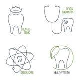 Icone di cure odontoiatriche messe Fotografia Stock Libera da Diritti