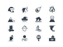 Icone di disastro naturale Immagini Stock Libere da Diritti