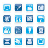Icone di disegno del Web site e del grafico Immagine Stock Libera da Diritti