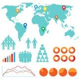 Infographics ed icone di disegno Fotografie Stock Libere da Diritti