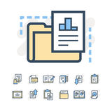 Icone di documenti di affari Fotografia Stock