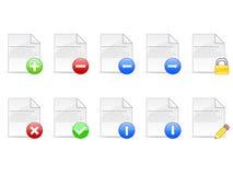 Icone di documento illustrazione di stock